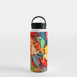 Senbazuru rainbow Water Bottle