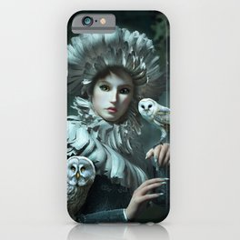 Owls Talk - dedicated to thee_owl_queen iPhone Case