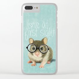 Little mouse in love Clear iPhone Case