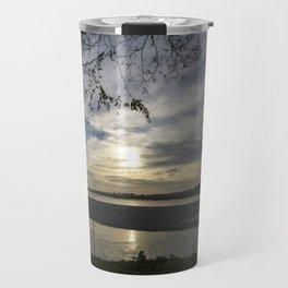 Sunset on a river Travel Mug