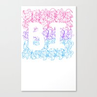bisexual Canvas Prints featuring bisexual by thetalkinghair