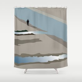 Man and river Shower Curtain