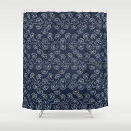 Georgian Floral in Classic Blues Shower Curtain
