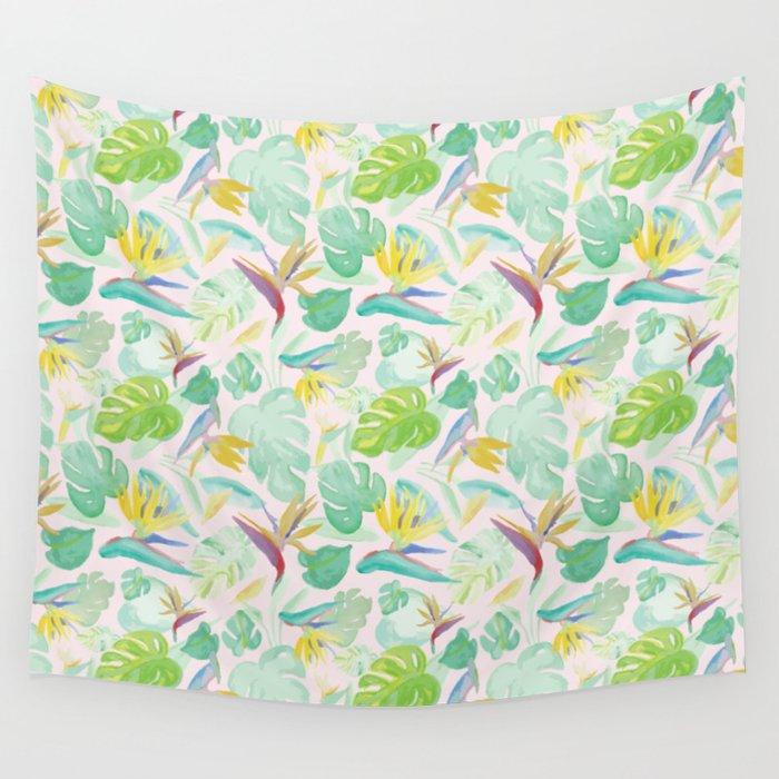 Birds of Paradise Pattern Wall Tapestry