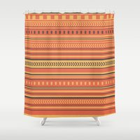 indian Shower Curtains featuring Indian by Julia Brnv
