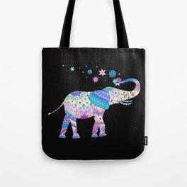 Henna Mandala Luck Elephant Tote Bag