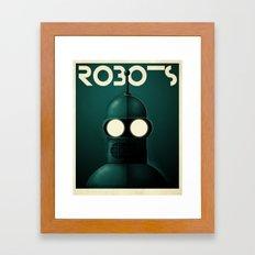 Robots - Bender Framed Art Print