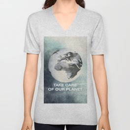Take care of our planet #2 Unisex V-Neck