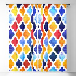 Marrakesh Moroccan red and blue #homedecor #Moroccan Blackout Curtain
