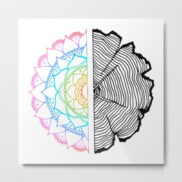 Tree of Life - Rainbow Psychedelic Metal Print