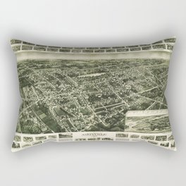 Aerial View of Amityville, New York (1925) Rectangular Pillow
