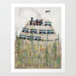 adventure mountain Art Print