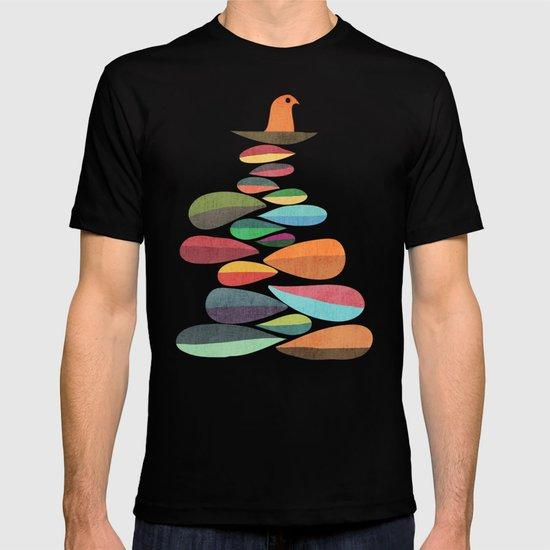Bird nesting on top of pebbles hill T-shirt