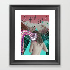 Acid Eye Framed Art Print