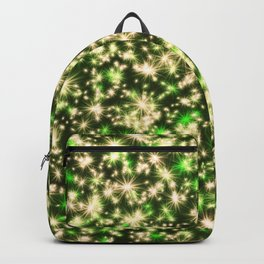 Gold and Green Holiday Lights Backpack