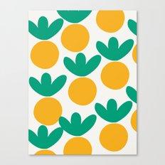 Minimalist Fruit Summer Pattern Canvas Print
