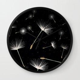 Celestial Dandelions Wall Clock