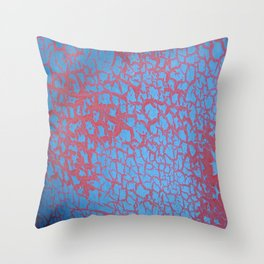 bushwick crackle Throw Pillow