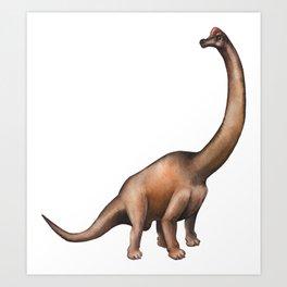 Realistic watercolor dinosaur Art Print