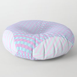 Pinch Effect on Lines Floor Pillow