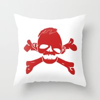 goonies Throw Pillows featuring Goonies Never say die Red by Komrod