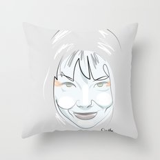 Portrait: Bjork Throw Pillow