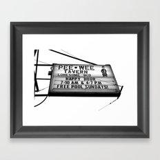 Pee Wee tavern sign Framed Art Print
