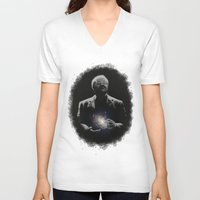 milky way V-neck T-shirts featuring Cosmos - Milky Way by mycolour