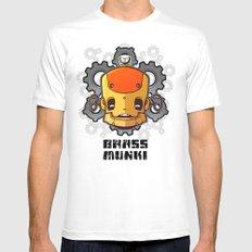 Brass Munki - Bot015 Mens Fitted Tee MEDIUM White