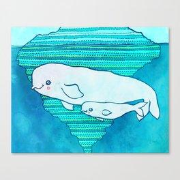 Belugas Canvas Print