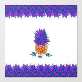 Cool Cannabis Pineapple Canvas Print