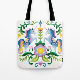 The Royal Society Of Cute Unicorns Light Background Tote Bag