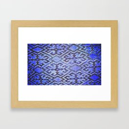 Blue Oriental Rug Framed Art Print