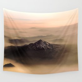 The West is Burning - Mt Shasta - nature photography Wall Tapestry
