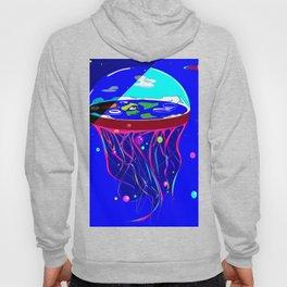 Flat Earth Jellyfish Spaceship Hoody