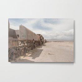 The Train Graveyard Uyuni | Bolivia travel photography | Bright and pastel colored photo print | Metal Print