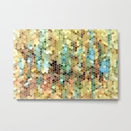 Abstract 22 Mosaic Metal Print