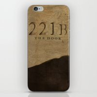 221b iPhone & iPod Skins featuring No. 6. 221B by F. C. Brooks