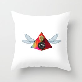 Sound Pyramid Wings Collage Throw Pillow