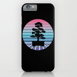 Bonsai Tree Vaporwave Japan Culture Retro Gift iPhone Case