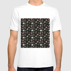 Colorful Lovely Pattern III White MEDIUM Mens Fitted Tee