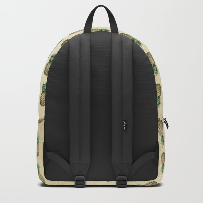 Vintage Pineapple Pattern Linen Backpack