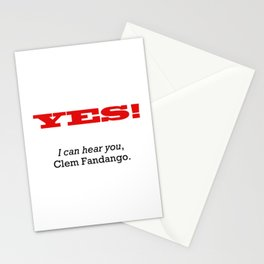 I can hear you Clem Fandango Stationery Cards
