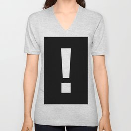 Exclamation Mark (White & Black) Unisex V-Neck