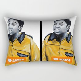 Theo Huxtable Tucked into my Socks! Rectangular Pillow