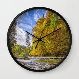 Autumn Landscape Wall Clock