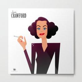 Joan Crawford Metal Print