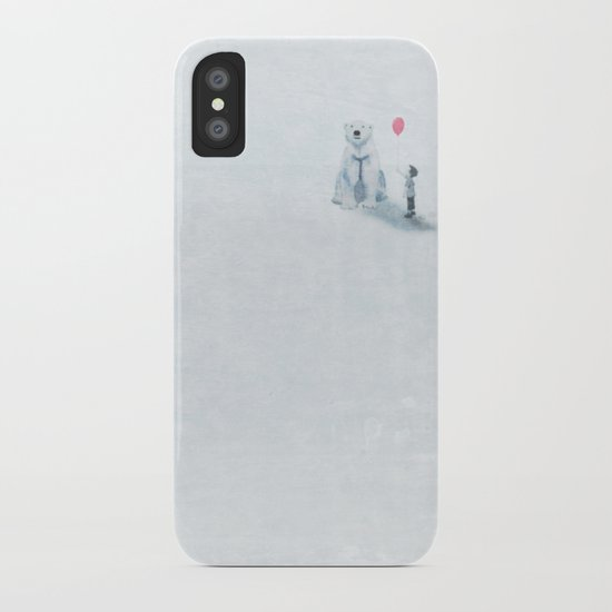 The boy and the bear iPhone Case
