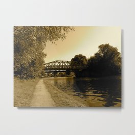 Bridge over the Water  Metal Print