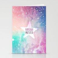hakuna Stationery Cards featuring Hakuna Matata by Pink Berry Patterns